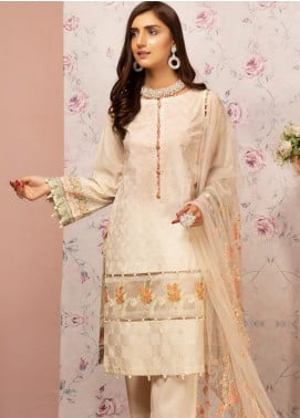 Khas Embroidered Lawn Unstitched 3 Piece Suit KHS20SV KNE-7011 Wisteria - Spring / Summer Collection