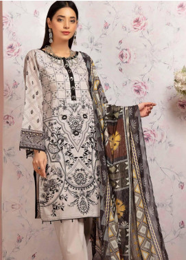 Khas Embroidered Lawn Unstitched 3 Piece Suit KHS20SV KSE-8026 Delice Gris - Spring / Summer Collection