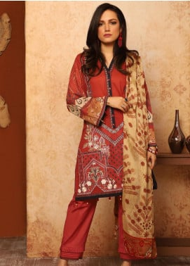 Khas Embroidered Lawn Unstitched 3 Piece Suit KHS20SV KSE-8028 Dark Disty - Spring / Summer Collection