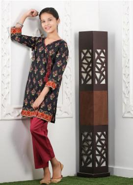 Waniya Cotton Printed Girls 2 Piece Suit -  WKA20-16