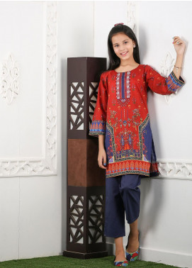 Waniya Cotton Printed 2 Piece Suit for Girls -  WKA20-17