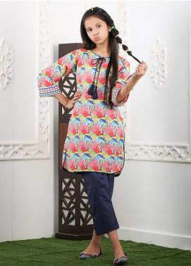 Waniya Cotton Printed Girls 2 Piece Suit -  WKA20-18