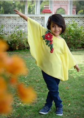Nargis Shaheen Chiffon Formal Tops for Girls -  NKS-002Y Yellow