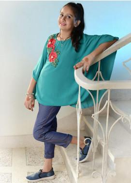 Nargis Shaheen Chiffon Formal Girls Tops -  NSK-002G Green