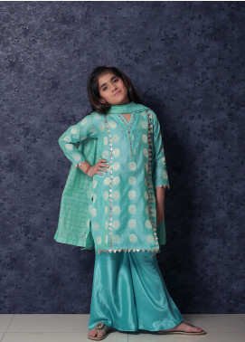 Nargis Shaheen Cotton Net Formal 3 Piece Suit for Girls -  NSK-013