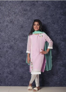 Nargis Shaheen Cotton Net Formal 3 Piece Suit for Girls -  NSK-017