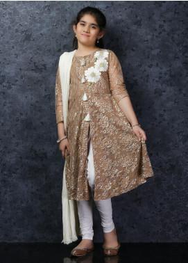 Nargis Shaheen Net Luxury 3 Piece Suit for Girls -  NSK-030