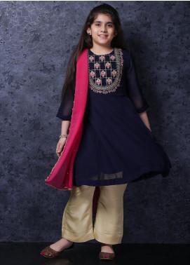 Nargis Shaheen Chiffon Luxury Girls 3 Piece Suit -  NSK-031