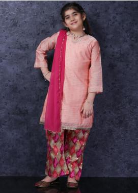 Nargis Shaheen Cotton Net Luxury 3 Piece Suit for Girls -  NSK-032