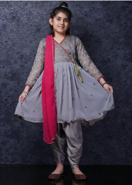 Nargis Shaheen Chiffon Luxury Girls 3 Piece Suit -  NSK-033