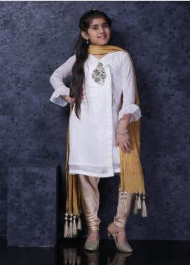 Nargis Shaheen Chiffon Luxury 3 Piece Suit for Girls -  NSK-034