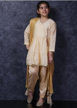 Nargis Shaheen Lawn Luxury Girls 3 Piece Suit -  NSK-035