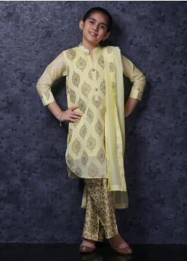 Nargis Shaheen Cotton Net Luxury 3 Piece Suit for Girls -  NSK-037