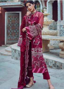 Kinaar by Shiza Hassan Embroidered Poly Net Unstitched 3 Piece Suit SH20KF 05 Dhaani - Festive Collection