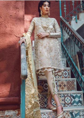 Kinaar by Shiza Hassan Embroidered Karandi Unstitched 3 Piece Suit SH20KF 08 Maahi - Festive Collection