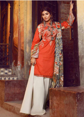 Kinaar by Shiza Hassan Embroidered Lawn Unstitched 3 Piece Suit KSH20SS 02 KANTHA - Spring / Summer Collection