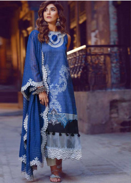 Kinaar by Shiza Hassan Embroidered Lawn Unstitched 3 Piece Suit KSH20SS 03 FALAK - Spring / Summer Collection