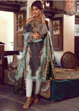Kinaar by Shiza Hassan Embroidered Lawn Unstitched 3 Piece Suit KSH20SS 04 AABSHAAR - Spring / Summer Collection