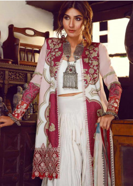 Kinaar by Shiza Hassan Embroidered Lawn Unstitched 3 Piece Suit KSH20SS 05 RUBY - Spring / Summer Collection