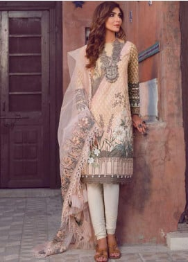 Kinaar by Shiza Hassan Embroidered Lawn Unstitched 3 Piece Suit KSH20SS 06 KALI - Spring / Summer Collection