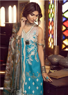 Kinaar by Shiza Hassan Embroidered Lawn Unstitched 3 Piece Suit KSH20SS 08 FEROZA - Spring / Summer Collection