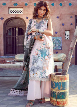 Kinaar by Shiza Hassan Embroidered Lawn Unstitched 3 Piece Suit KSH20SS 09 GUL E BAHAAR - Spring / Summer Collection