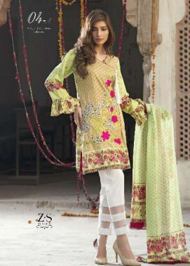 Kalyan By ZS Embroidered Lawn Unstitched 3 Piece Suit KL17D 4A