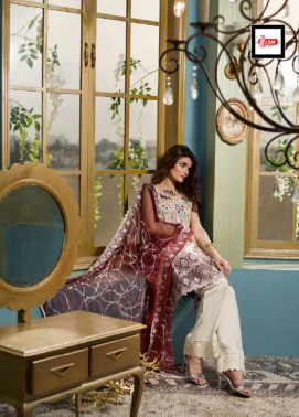 Komal By LSM Embroidered Lawn Unstitched 3 Piece Suit KM17E KE1011A