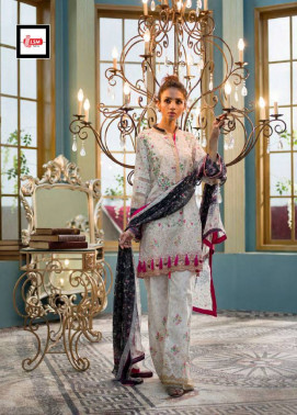 Komal By LSM Embroidered Lawn Unstitched 3 Piece Suit KM17E KE3033B