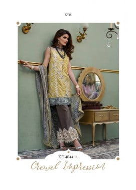 Komal By LSM Embroidered Lawn Unstitched 3 Piece Suit KM17E KE4044A