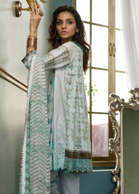Komal By LSM Embroidered Lawn Unstitched 3 Piece Suit KM17E KE5055A