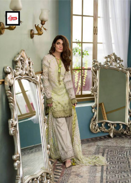 Komal By LSM Embroidered Lawn Unstitched 3 Piece Suit KM17E KE5055B