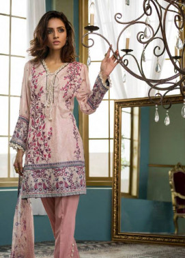 Komal By LSM Embroidered Lawn Unstitched 3 Piece Suit KM17E KE7077A