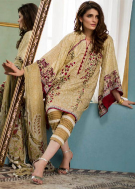 Komal By LSM Embroidered Lawn Unstitched 3 Piece Suit KM17E KE7077B