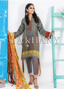 Komal by Lakhany Printed Lawn Unstitched 3 Piece Suit LSM20P KP-2036 - Spring / Summer Collection