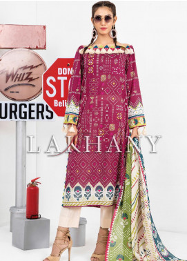 Komal by Lakhany Printed Lawn Unstitched 3 Piece Suit LSM20P KP-2037 - Spring / Summer Collection