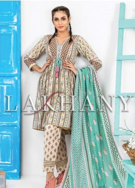 Komal by Lakhany Printed Lawn Unstitched 3 Piece Suit LSM20P KP-2038 - Spring / Summer Collection
