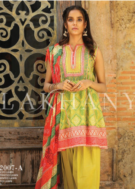 Lakhany Printed Lawn Unstitched 3 Piece Suit KL20LSM 13 - Spring / Summer Collection