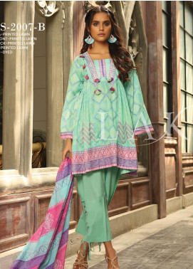 Lakhany Printed Lawn Unstitched 3 Piece Suit KL20LSM 14 - Spring / Summer Collection