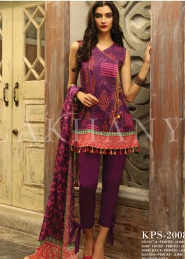 Lakhany Printed Lawn Unstitched 3 Piece Suit KL20LSM 15 - Spring / Summer Collection