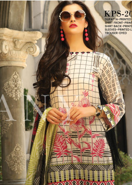 Lakhany Printed Lawn Unstitched 3 Piece Suit KL20LSM 17 - Spring / Summer Collection