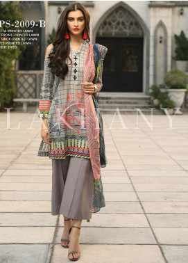 Lakhany Printed Lawn Unstitched 3 Piece Suit KL20LSM 18 - Spring / Summer Collection