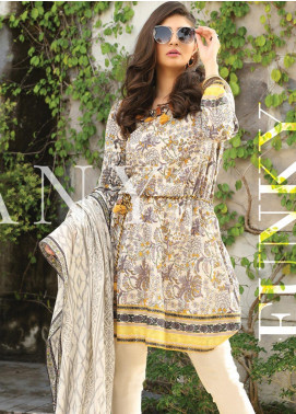 Lakhany Printed Lawn Unstitched 3 Piece Suit KL20LSM 21 - Spring / Summer Collection
