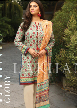 Lakhany Printed Lawn Unstitched 3 Piece Suit KL20LSM 26 - Spring / Summer Collection