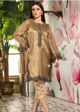 Kross Kulture Embroidered Tissue Stitched Kurtis KK21C KX-20700 Copper