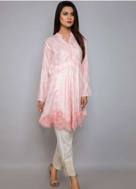 Kross Kulture Embroidered Jacquard Stitched Kurtis BJ-19028 Light Pink