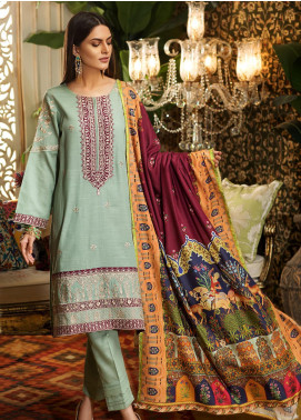 Kross Kulture Embroidered Khaddar Stitched 3 Piece Suit BJ-19436 Digital Print