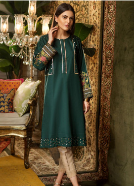Kross Kulture Embroidered Cambric Stitched Kurtis BP-19381 Green
