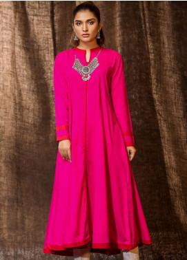 Kross Kulture Printed Khaddar Stitched Kurtis BP-19445 Dark Pink
