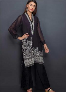 Kross Kulture Embroidered Cotton Net Stitched Kurtis EX-19163 Black